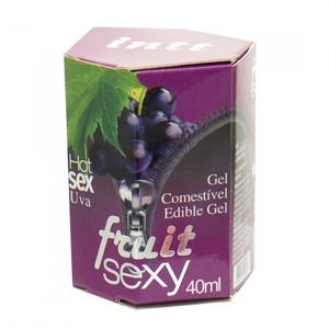 Gel Comestível Sexo Oral Fruit Sexy Uva - 40 ml