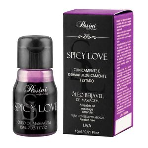 Gel Comestível Térmico Esquenta Spicy Love Sabor Choco Menta 15 ML - Pessini
