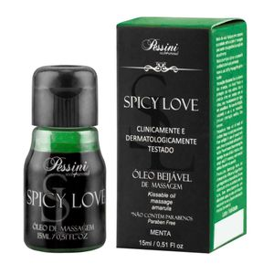 Gel Comestível Térmico Esquenta Spicy Love Sabor Menta 15 ML - Pessini