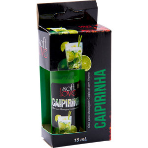 Gel Comestível Hot Esquenta Sabor Caipirinha 15 ml - Soft Love