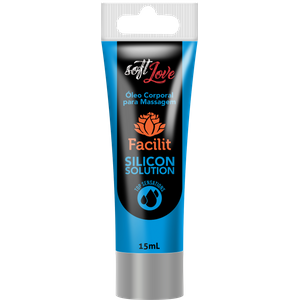 Facilit Silicon Solution - Gel Lubrificante Siliconado com Textura Consistente À Prova Água 15 ml - SOFT LOVE
