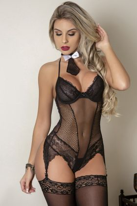 REF: 02122 GUARDA COSTAS - BODY C/ GRAVATA
