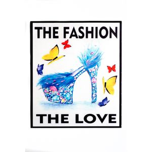 ESTAMPA ROUPAS THE FASHION THE LOVE 22X26 PCTE C/ 50 PÇS