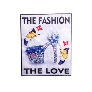 ESTAMPA PARA ROUPAS THE FASHION, THE LOVE 18X22CM 50 UNIDADES