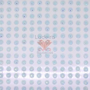 STICKER MEIA PEROLA FLOR IRIZADA 5MM C/12 CAT.