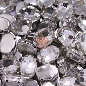 CHATON OVAL CRISTAL ENGRAMPADO 10X14MM 500PCS