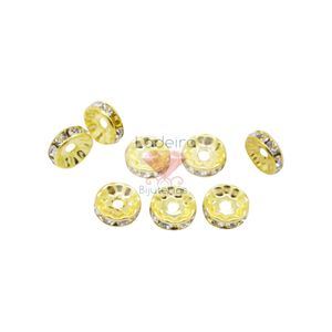 Rondela De Strass 12mm 100 Pçs