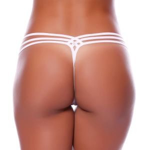 Tanga Fio Dental Strappy Renda Yully Sensual