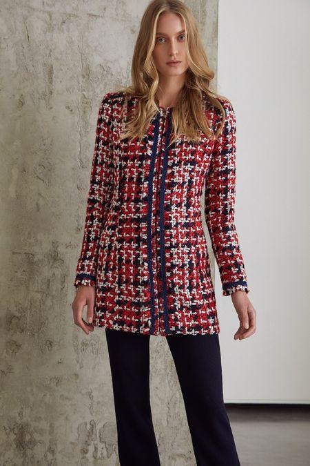 b436014750 Casaco multicolorido em Tweed