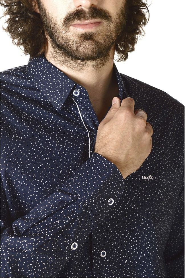 CAMISA NAGLE SLIM FIT ESTAMPADA