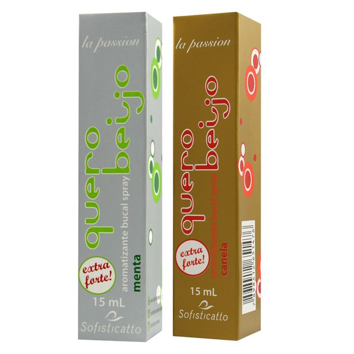 QUERO BEIJO AROMATIZANTE BUCAL SPRAY 15ML SOFISTICATTO