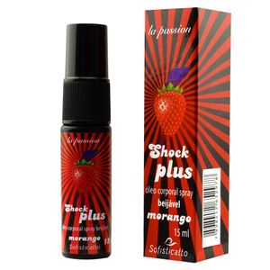 SHOCK PLUS ÓLEO ELETRIZANTE BEIJÁVEL SPRAY 15ML SOFISTICATTO