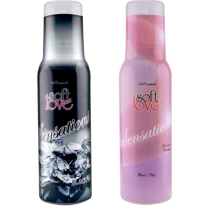 SENSATIONS GEL HIDRATANTE COMESTÍVEL AEROSSOL 80ML SOFT LOVE