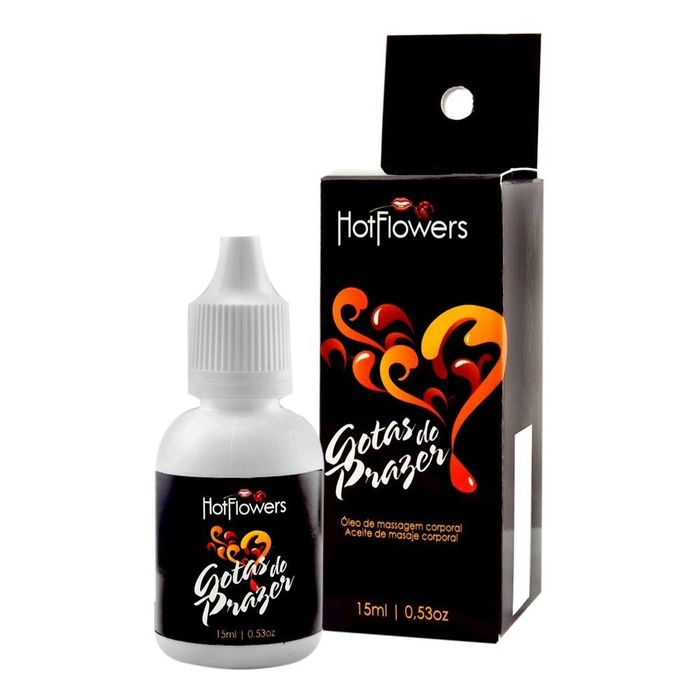 GOTAS DO PRAZER LÍQUIDO 15ML HOT FLOWERS