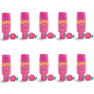 PACK 10 YUMMY CHICLETE GEL COMESTÍVEL 15ML SEXY FANTASY