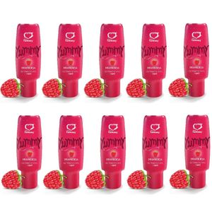 PACK 10 YUMMY FRAMBOESA GEL COMESTÍVEL 15ML SEXY FANTASY