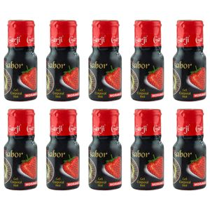 PACK 10 UNIDADES GEL HOT MORANGO 15ML GARJI