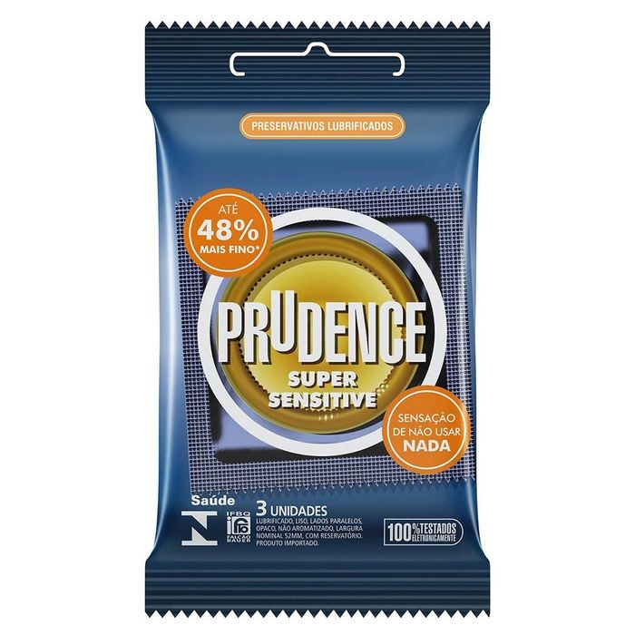 PRESERVATIVO SUPER SENSITIVE COM 3 UNIDADES PRUDENCE