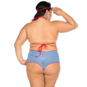 KIT MINI FANTASIA MARINHEIRA SEXY PLUS SIZE PIMENTA SEXY