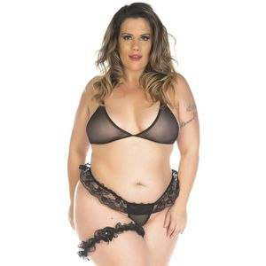KIT MINI FANTASIA PLUS SIZE CONJUNTO SEXY PIMENTA SEXY