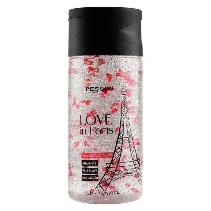 LOVE IN PARIS SABONETE LÍQUIDO ESFOLIANTE 140ML PESSINI