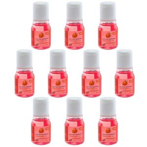 PACK 10 GÉIS HOT MORANGO COM CHAMPANHE 15ML CHILLIES