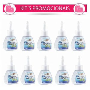 Kit 10 Unid. Lubrificante Aqua Luby 30ml Love Sex