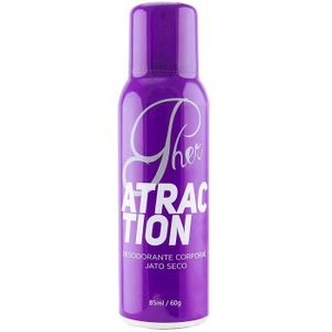 Pher Desodorante Corporal Feromônio Atraction 85ml Soft Love
