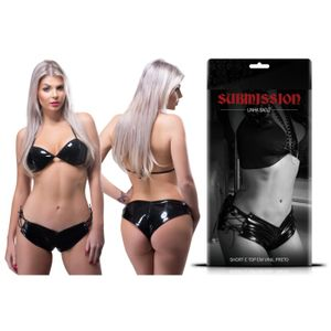 CONJUNTO SUBMISSION SHORT E TOP VINIL SEXY FANTASY