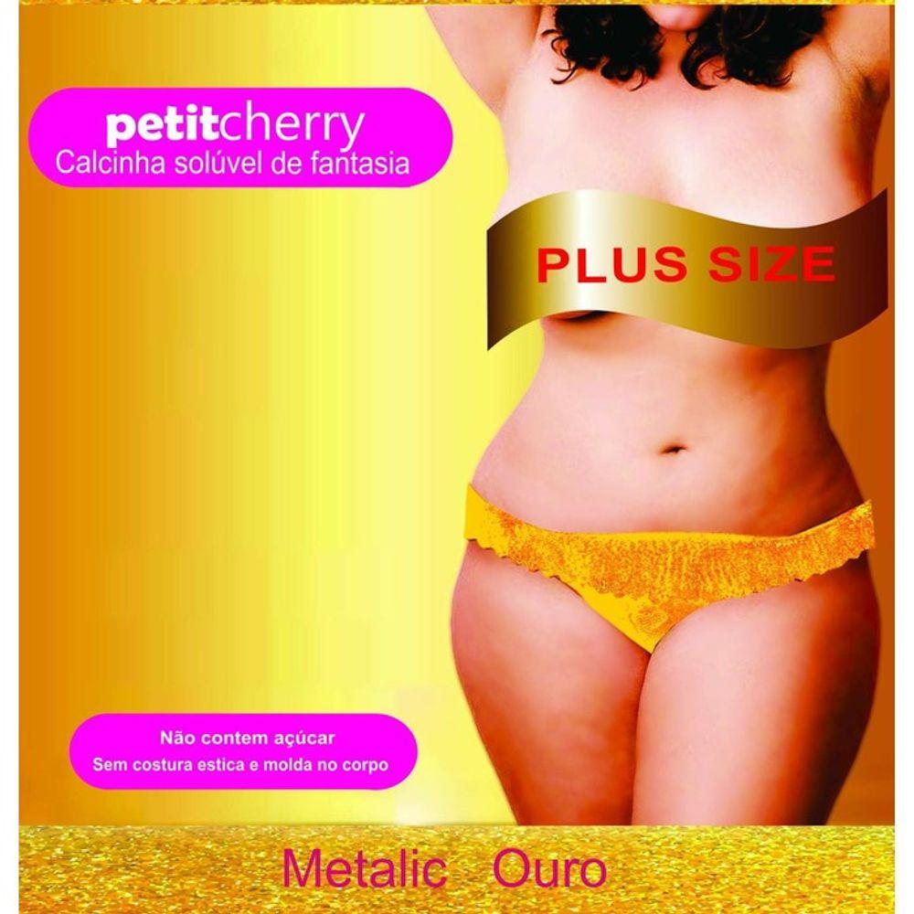 50cfee2a7 Calcinha Comestível Petit Cherry Metalic Plus Size Caminhos do Amor.