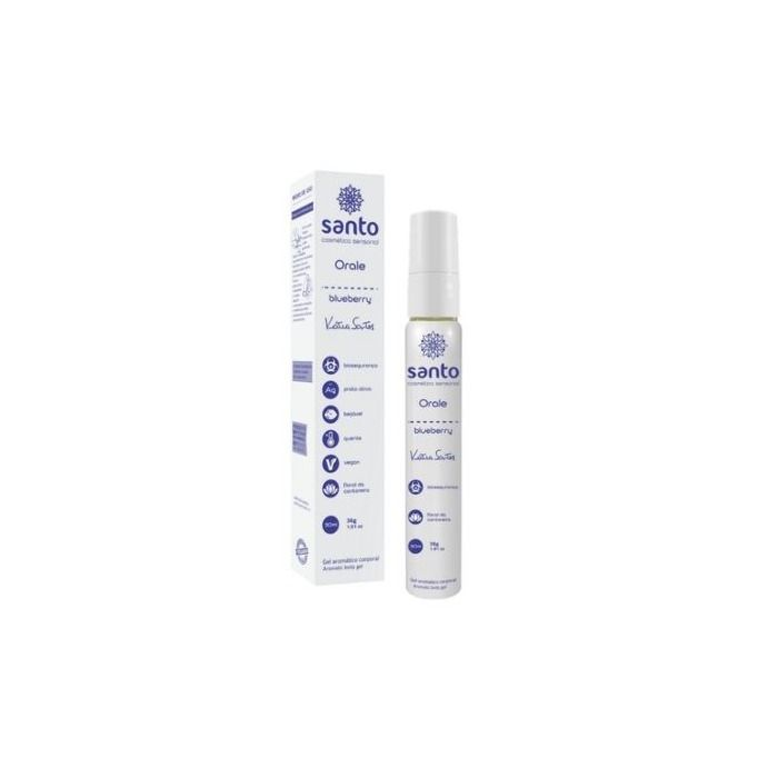 Gel Comestível Orale Blue Berry 30ml Santo