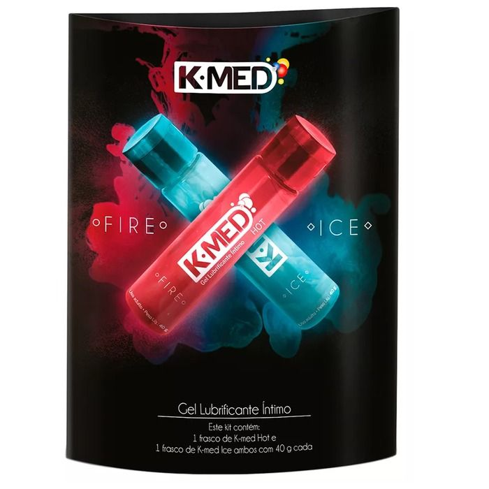 Kit Gel Lubrificante K-Med Fire & Ice 80g K-Med