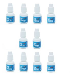 KIT 10 UNID. GOTAS EXCITANTES ICE 8ML CHILLIES