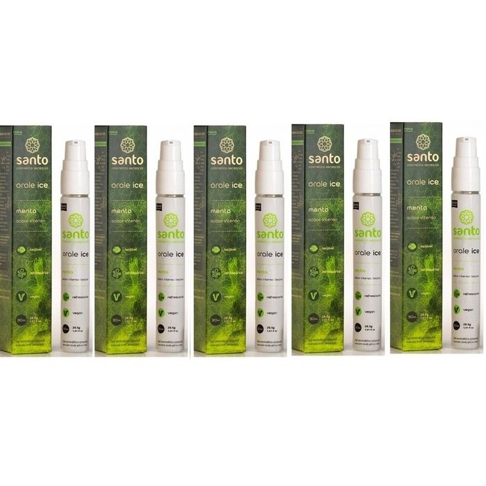 Kit 5 Unid. Gel Comestível Ice Orale 30ml Menta Santo