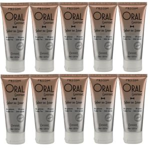 KIT 10 UNID. GEL COMESTÍVEL ORAL GOURMET 35ML COCONUT PESSINI