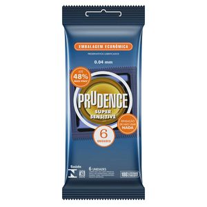 PRESERVATIVO SUPER SENSITIVE COM 6 UNID. PRUDENCE