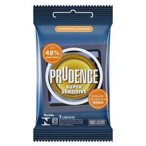 Preservativo Super Sensitive com 3 Unid. Prudence