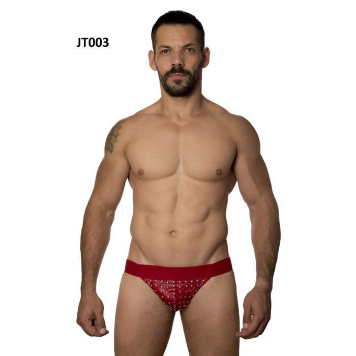 CUECA JOCKSTRAP TACHINHAS VERMELHA SD CLOTHING