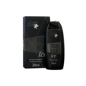 GEL P/ MASSAGEM CORPORAL FRESH BLACK ICE 20ML SECRET LOVE