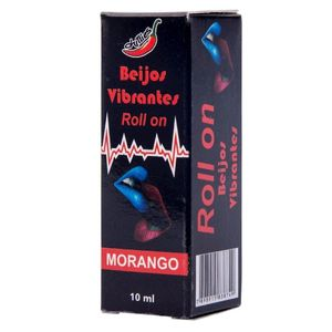 KIT 10 UNID. GEL DO BEIJO VIBRANTE ROLLON 10ML MORANGO CHILLIES