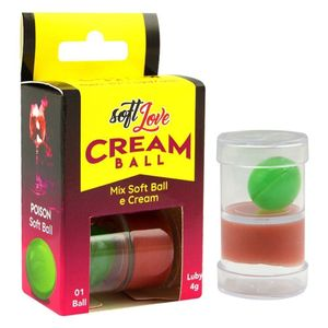CREAM BALL BOLINHA E CREME POISON HARD SOFT LOVE