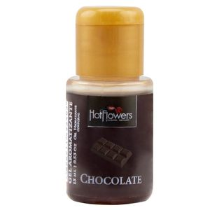 KIT 10 UNID. GEL COMESTÍVEL AROMATIZANTE HOT 15ML CHOCOLATE HOT FLOWERS