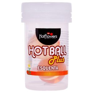 KIT 10 UNID. BOLINHA EXCITANTE HOT BALL PLUS ESQUENTA HOT FLOWERS