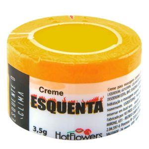 KIT 10 UNID. CREME FUNCIONAL ESQUENTA 3,5G HOT FLOWERS