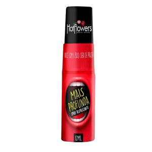 KIT 10 UNID. SPRAY REFRESCANTE PARA SEXO ORAL MAIS PROFUNDA 12ML HOT FLOWERS