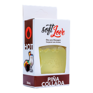 KIT 10 UNID. GEL COMESTÍVEL HOT 30ML PINA COLADA SOFT LOVE