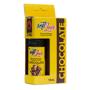 KIT 10 UNID. GEL COMESTÍVEL HOT 15ML CHOCOLATE SOFT LOVE