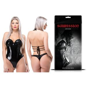 SUBMISSION BODY VINIL PRETO SEXY FANTASY