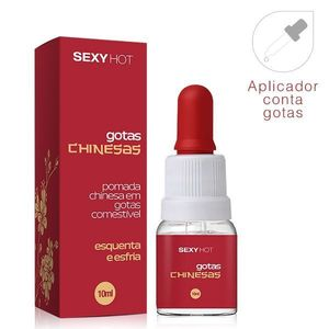 KIT 10 UNID. EXCITANTE GOTAS CHINESAS ESQUENTA ESFRIA 10ML ADÃO E EVA