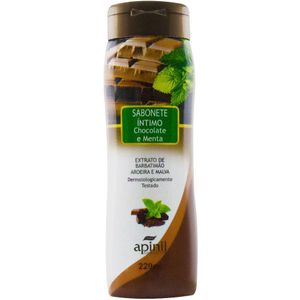 KIT 10 UNID. SABONETE ÍNTIMO 210ML CHOCOLATE APINIL